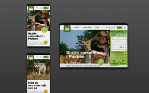 Skandinavis dyrepark forside design